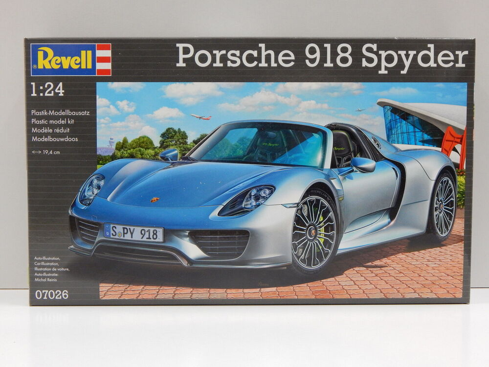 1 24 porsche 918 spyder revell 7026 ebay. Black Bedroom Furniture Sets. Home Design Ideas