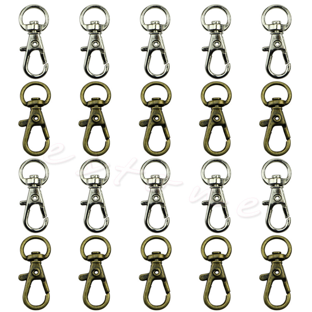 10pcs swivel trigger clips snap hooks lobster clasp for S hooks for crafts