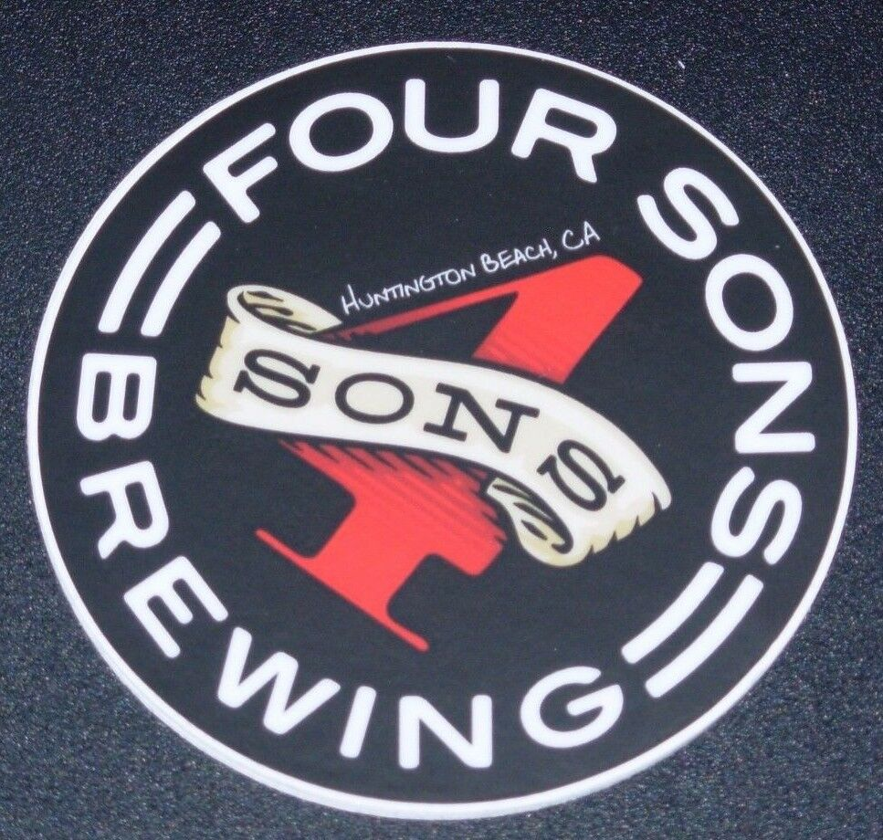 Details about four sons brewing huntington beach sticker decal craft beer brewing brewery