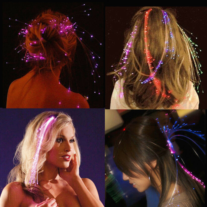 Sets of led hair extensions led hair braid for xmas parties new sets of led hair extensions led hair braid for xmas parties new year eve ebay pmusecretfo Gallery