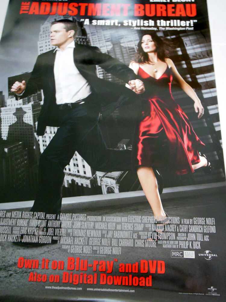 the adjustment bureau movie poster ebay. Black Bedroom Furniture Sets. Home Design Ideas