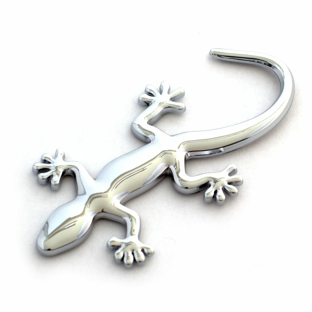 auto aufkleber 3d chrom gecko eidechse emblem galvanisch verchromt ebay. Black Bedroom Furniture Sets. Home Design Ideas