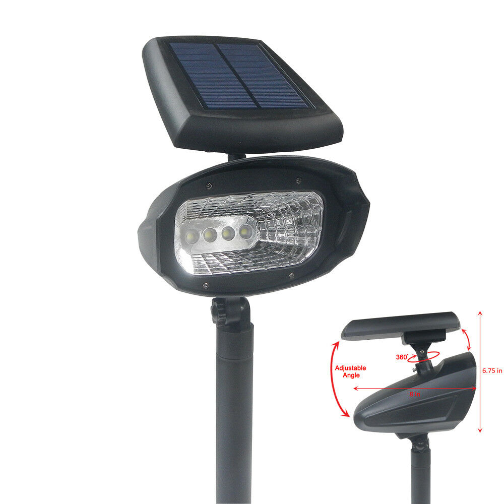 Outdoor Post Lights Led: 4 Pack Outdoor 4 SMD LED Solar Landscape Path Spot Flood