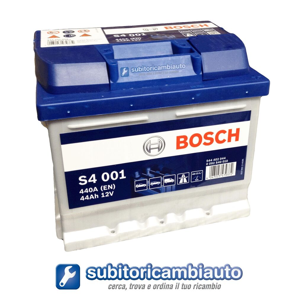 batteria auto 44ah bosch s4 001 linea blu 440a di spunto ebay. Black Bedroom Furniture Sets. Home Design Ideas