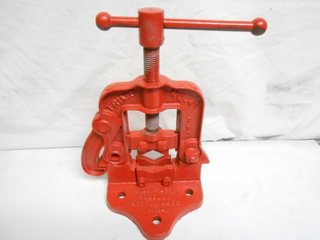 Antique cast iron trimont mfg co pipe cutter clamp ebay