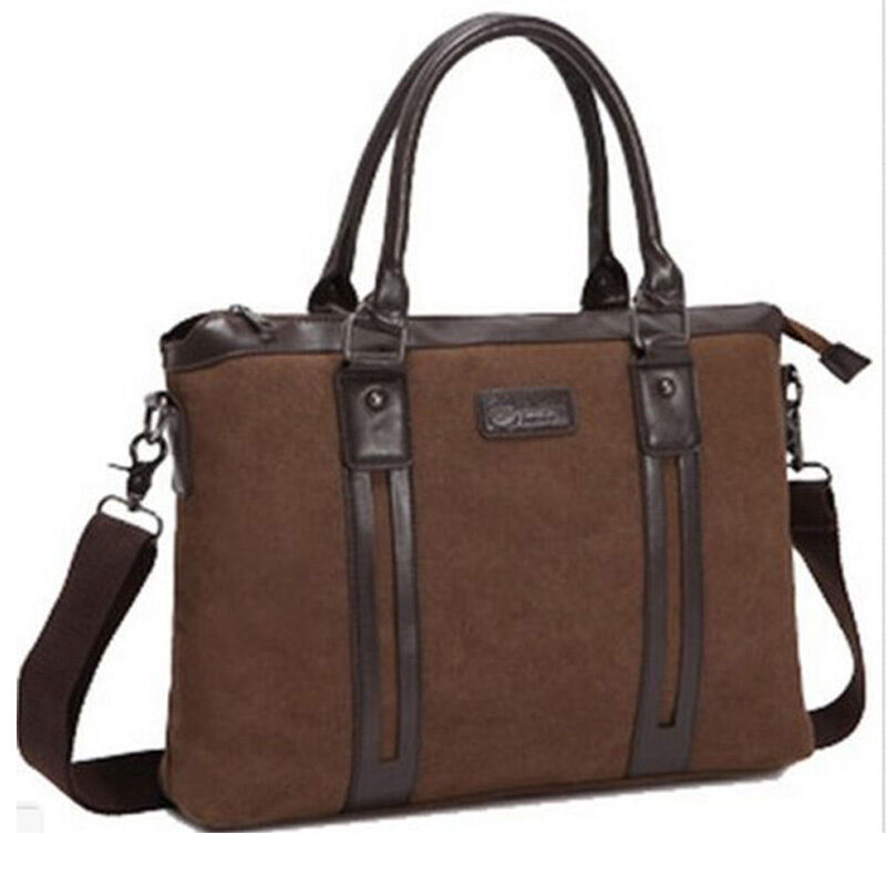Unique Mens Briefcase Womens 14 Laptop Bag 5 Colors - E-CanvasBags