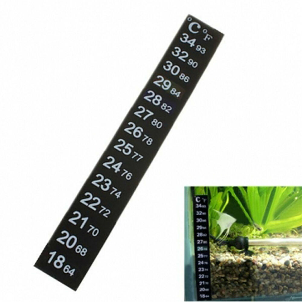 Lcd stick on digital thermometer adhesive aquarium fish for Aquarium thermometer