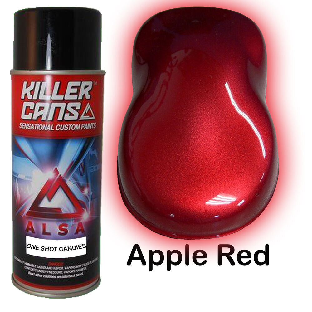 apple red one shot candies candy automotive auto spray paint ebay. Black Bedroom Furniture Sets. Home Design Ideas