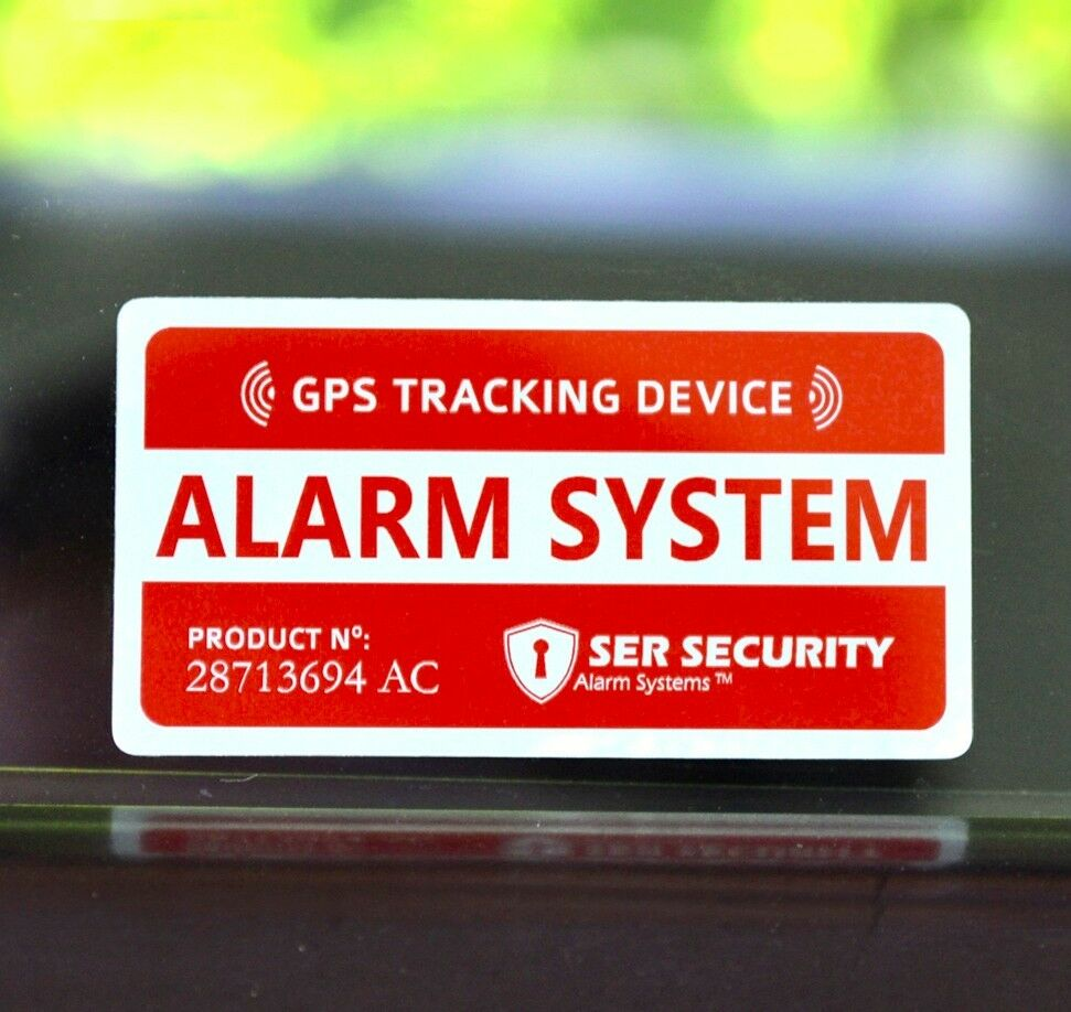 4 car alarm security sticker decal gps tracking device alert window warning ebay. Black Bedroom Furniture Sets. Home Design Ideas