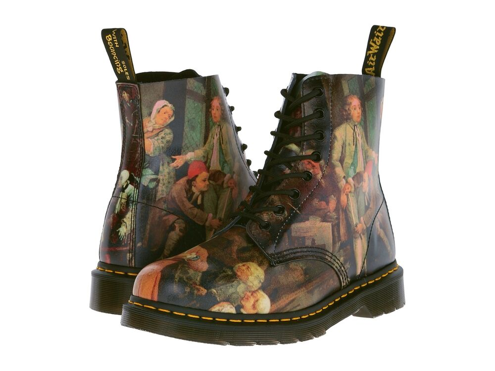 dr martens men 39 s 1460 pascal hogarth renaissance hell ankle boots us 10 11 ebay. Black Bedroom Furniture Sets. Home Design Ideas