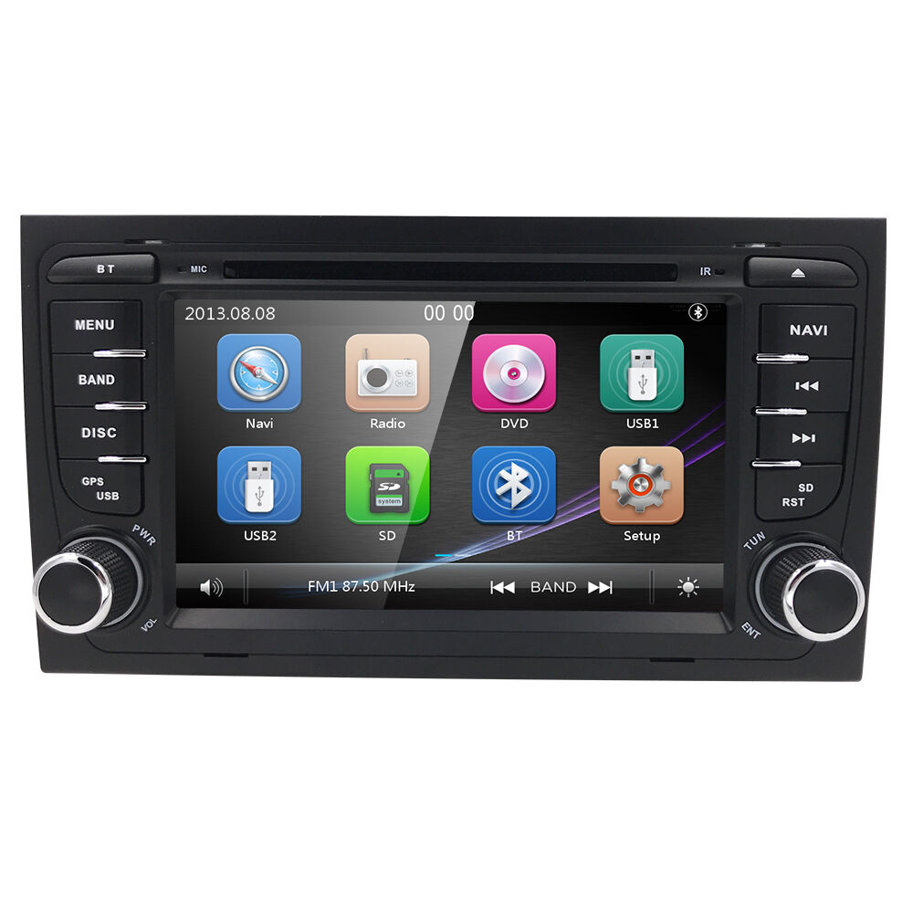 auto radio audi a4 2002 2007 in dash dvd gps navigation bluetooth head unit ebay. Black Bedroom Furniture Sets. Home Design Ideas