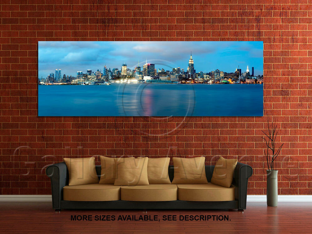 wall art canvas picture print new york city skyline 3 1. Black Bedroom Furniture Sets. Home Design Ideas