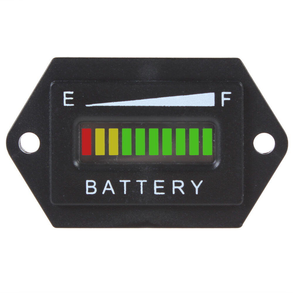 Battery Charge Monitor : Led digital display v battery status charge