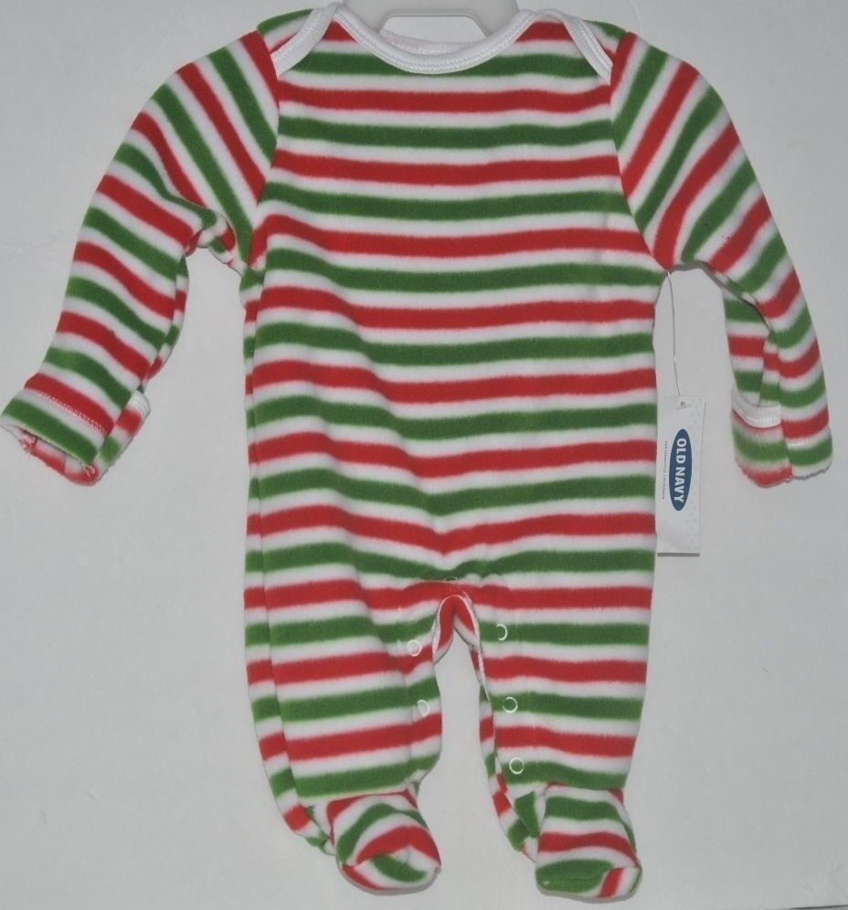 0c95a0305 Old Navy Infant Striped One Piece Fleece Footed Sleeper