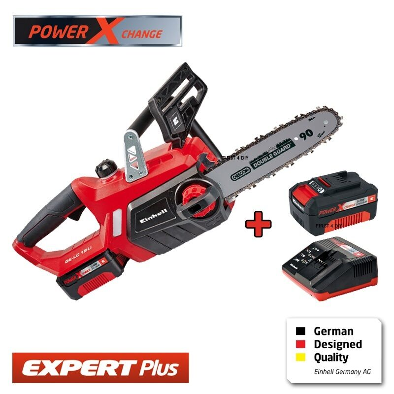 heavy duty einhell 18v lithium cordless 12 chainsaw saw 2 batteries charger ebay. Black Bedroom Furniture Sets. Home Design Ideas