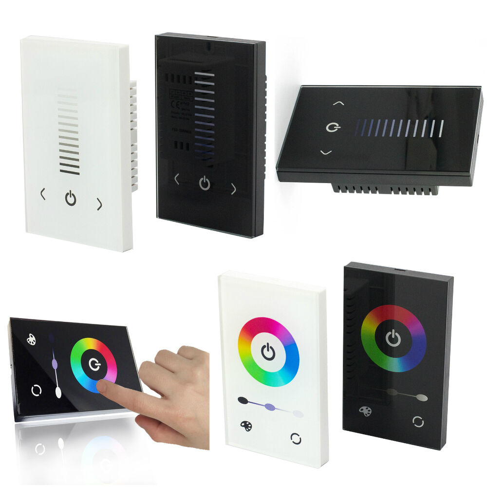 glass touch panel dimmer controller switch 12 24v for. Black Bedroom Furniture Sets. Home Design Ideas