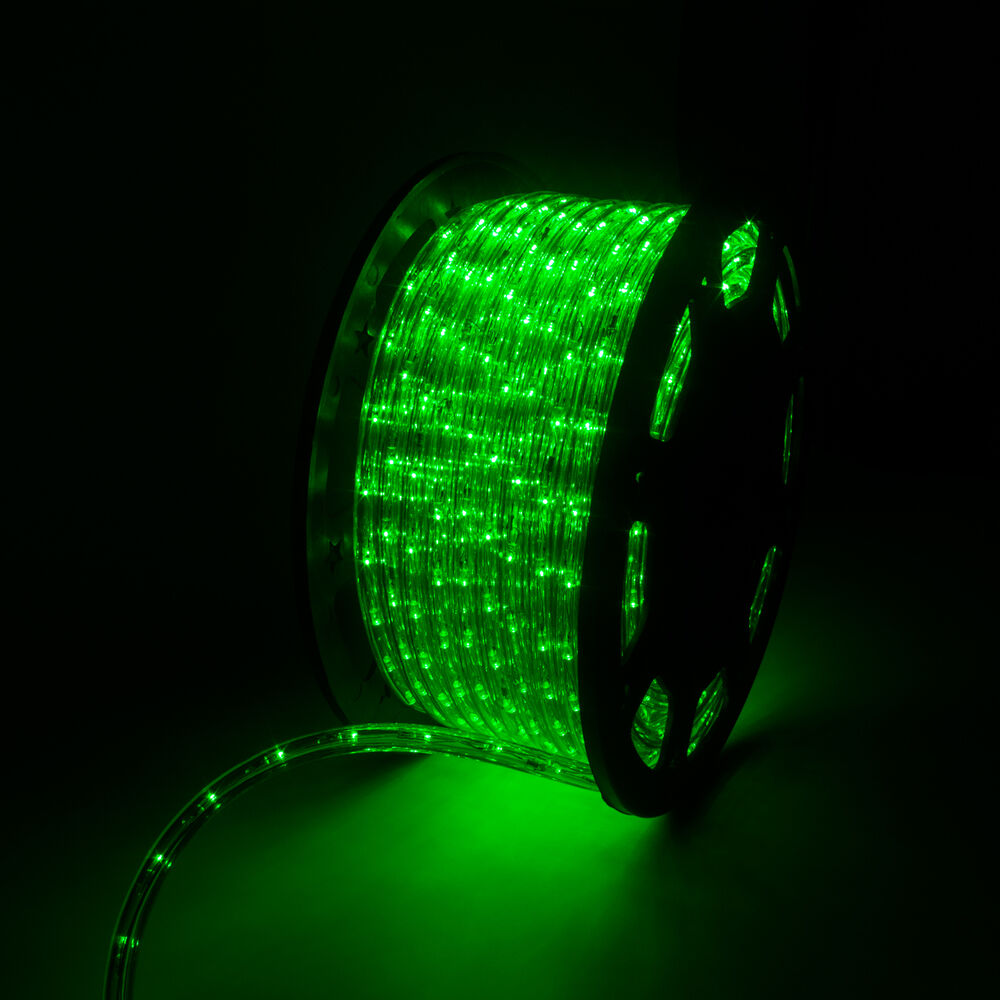 150 39 led green rope light 2 wire outdoor home party lighting bedroom