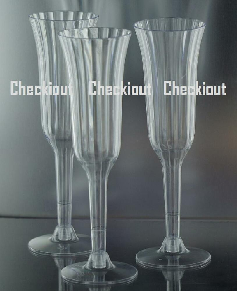 120 240 wedding party event plastic champagne wine martini for Wedding champagne flutes