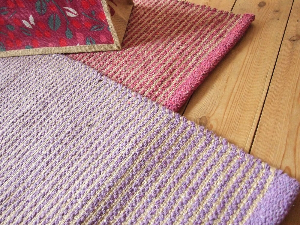 Hardwearing Jute/Cotton Dhurrie Rugs 90 x 150 cm in 5 colourways Washable : eBay