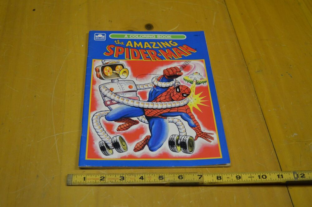 Vintage Golden Marvel Comics Amazing Spiderman Coloring ...
