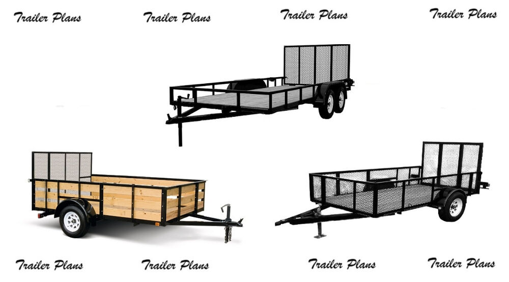 Single Axle Trailer Plans : Sets trailer plans for tandem axle
