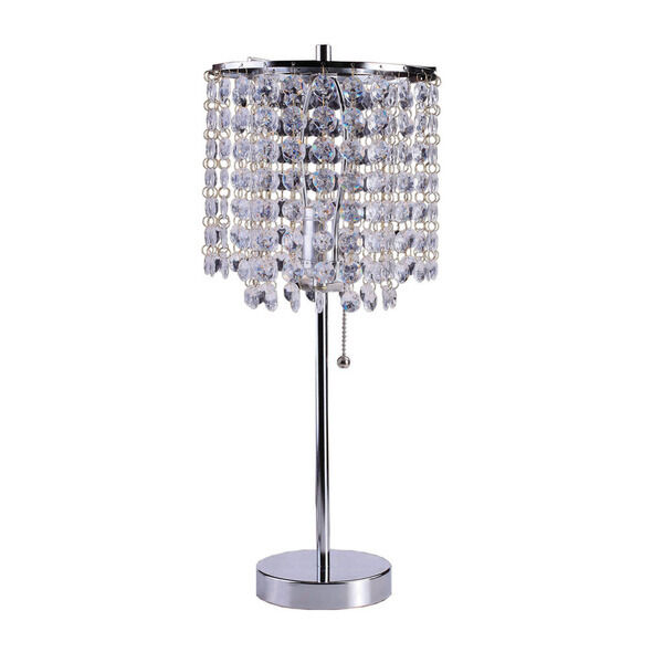 table chandelier crystal bedside accent lamp lighting