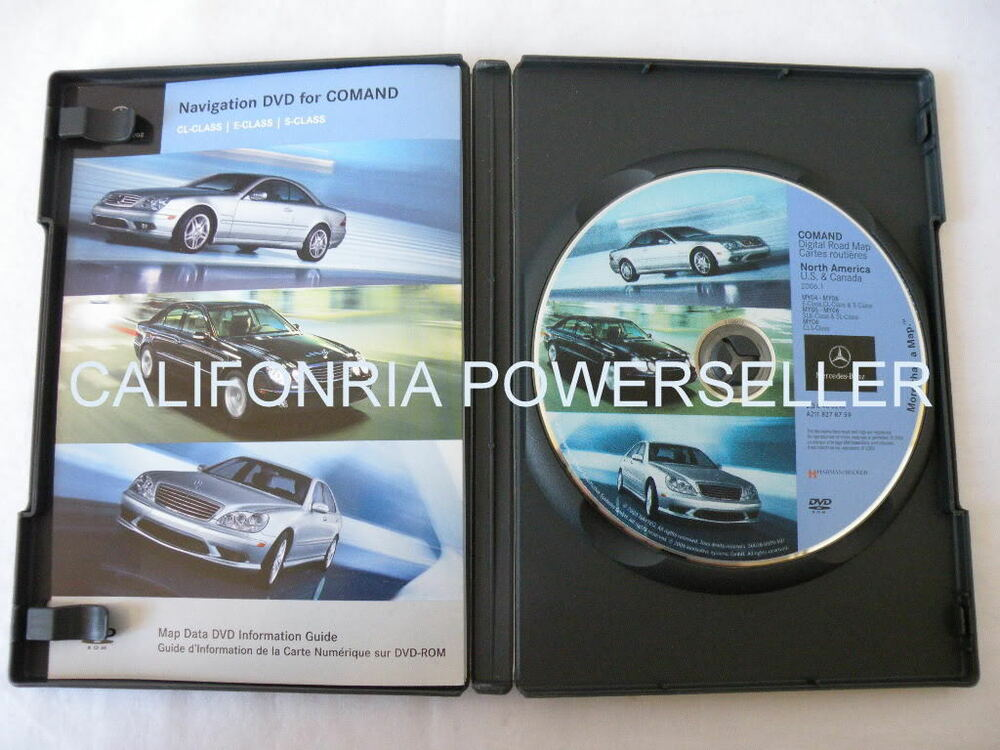 mercedes benz s cl e slk sl cls class navigation dvd cd. Black Bedroom Furniture Sets. Home Design Ideas