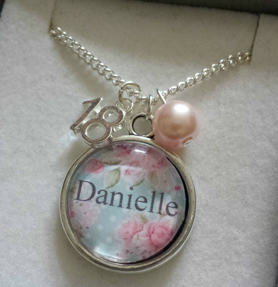 PERSONALISED Jewellery Charm Necklace Birthday Gift