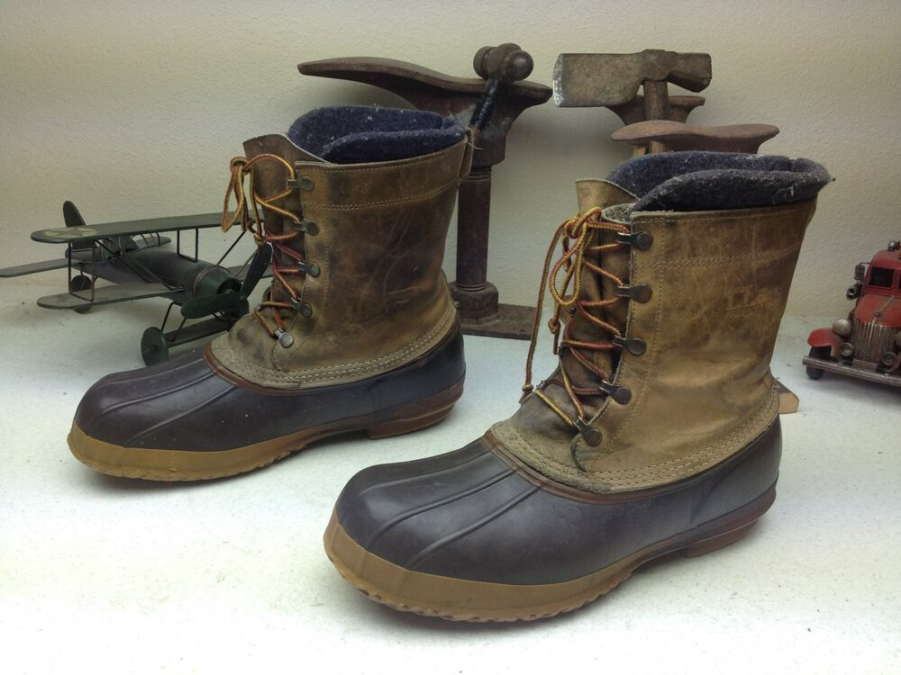 BEAN BOOTS L.L. BEAN USA VINTAGE DISTRESSED DUCK HUNTING
