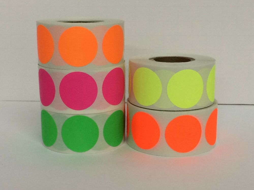 5 Rolls 2 Quot Round Color Coded Inventory Dot Sticker 500 Labels Each Color Ebay