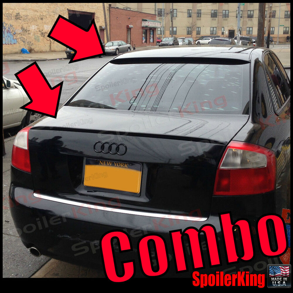 Audi A4 2002 Price: COMBO Rear Roof Wing & Trunk Lip Spoiler (Fits: Audi A4
