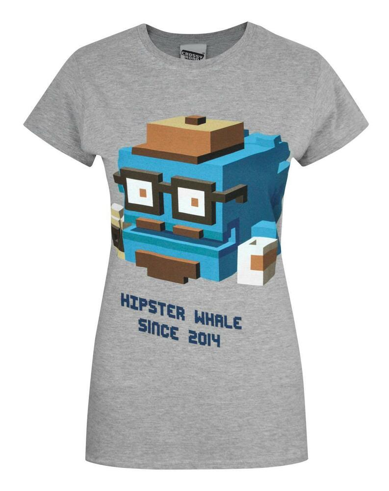 crossy road hipster whale women 39 s t shirt ebay. Black Bedroom Furniture Sets. Home Design Ideas