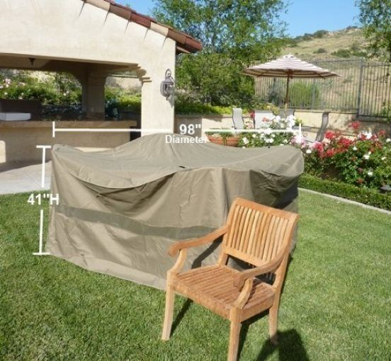 "Patio Bar Set Covers: Patio Garden Yard Bar High Dining Set Cover 98""Dx41""H"