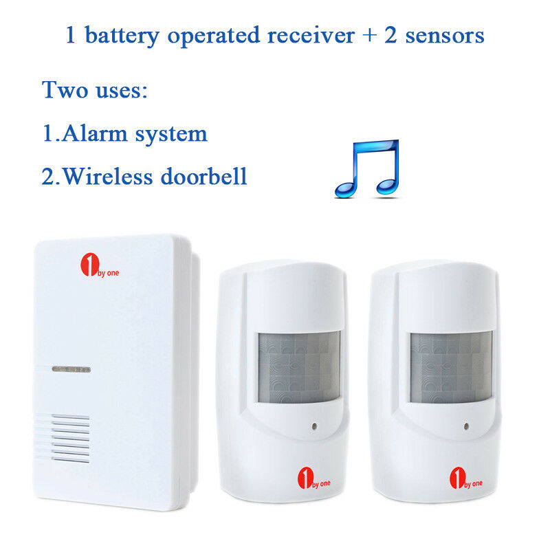 36 Chimes Wireless Patrol Pir Sensor Detector Door Bell