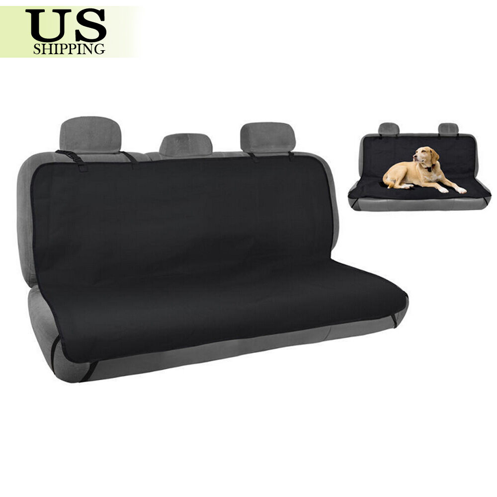 waterproof pet cat dog car back seat cover protector bench mat blanket black new ebay. Black Bedroom Furniture Sets. Home Design Ideas