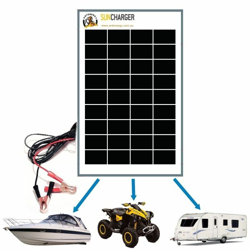 Rv Solar Battery Charger System : W v mono solar panel regulator trickle battery charger