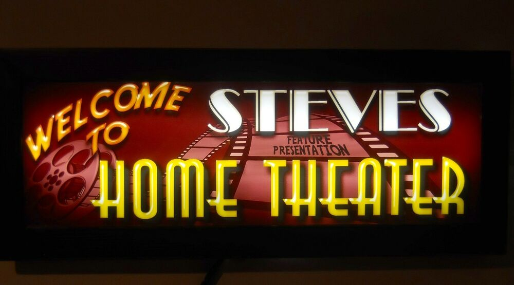 Home Movie Theater Sign Led Personalized Home Theater