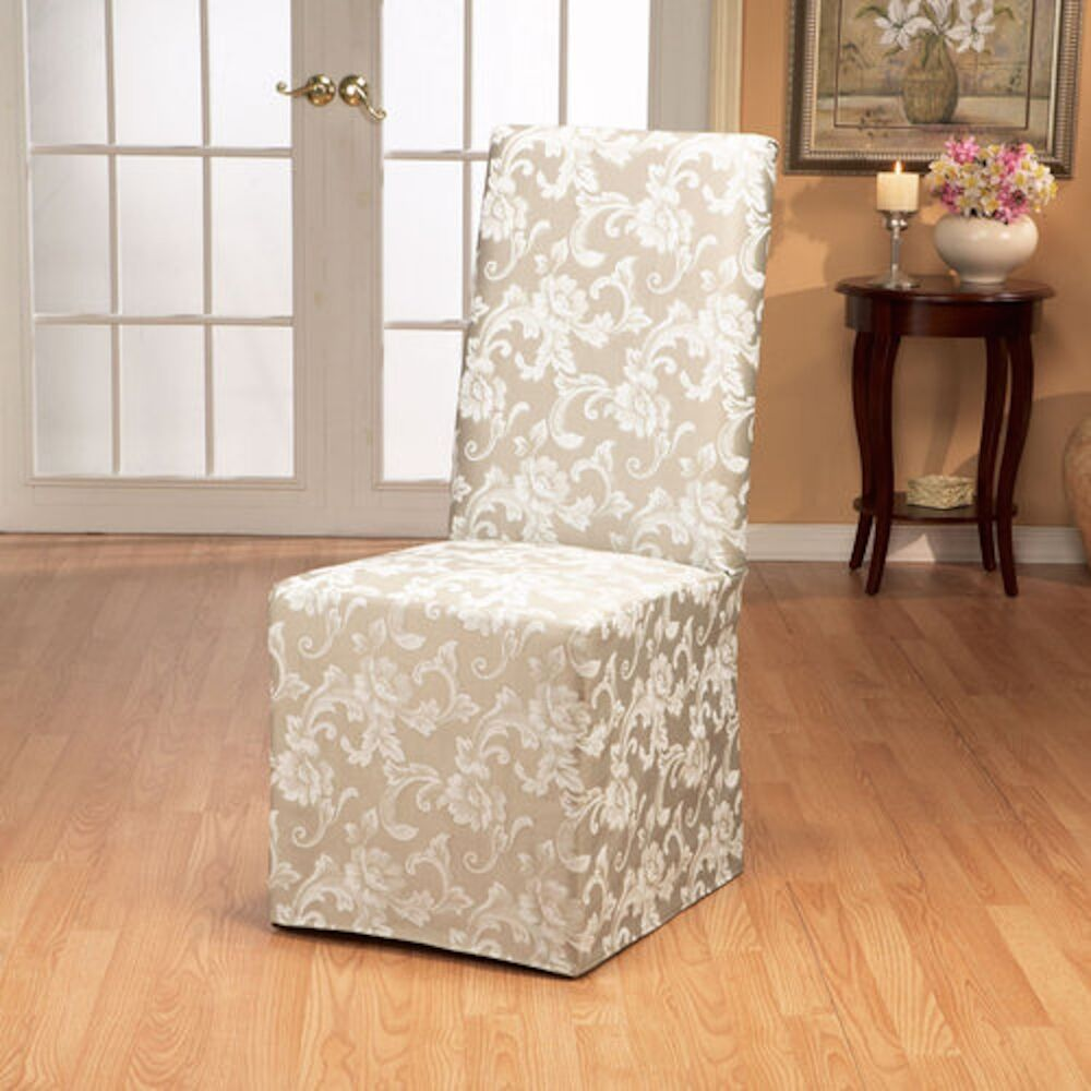 Sure Fit Scroll Long Dining Room Chair slipcover Champagne  : s l1000 from www.ebay.com size 1000 x 1000 jpeg 102kB