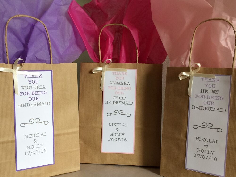 Personalised Wedding Paper Gift Bags : Personalized Vintage Brown Paper Favour Bags/Gift/Wedding/Hen ...