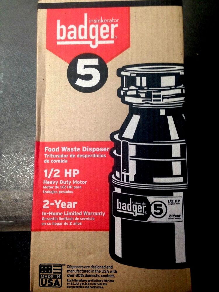 badger 1 2 hp garbage disposal badger 5 insinkerator 1 2 hp garbage disposer ebay 9073