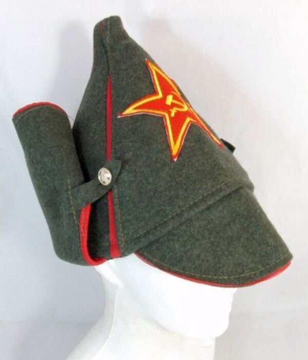 dc398747936 Russian Hat Soviet Red Army Old Style Wool Budenovka Embroidered Ussr Star  Badge