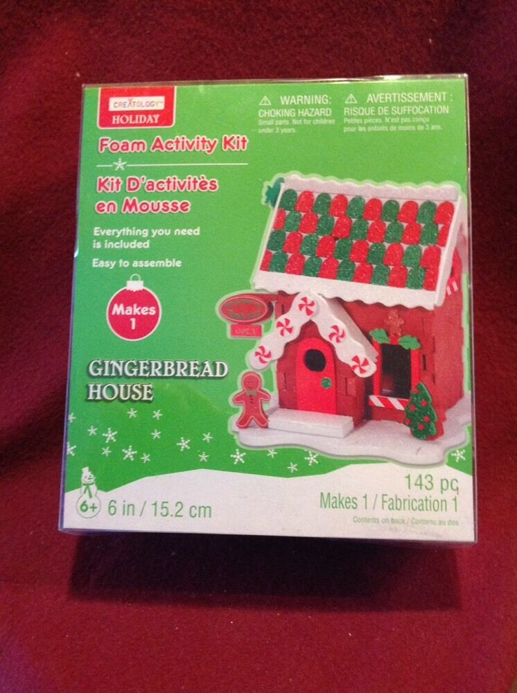 Creatology Holiday 3D Gingerbread House Craft Foam Kit ...