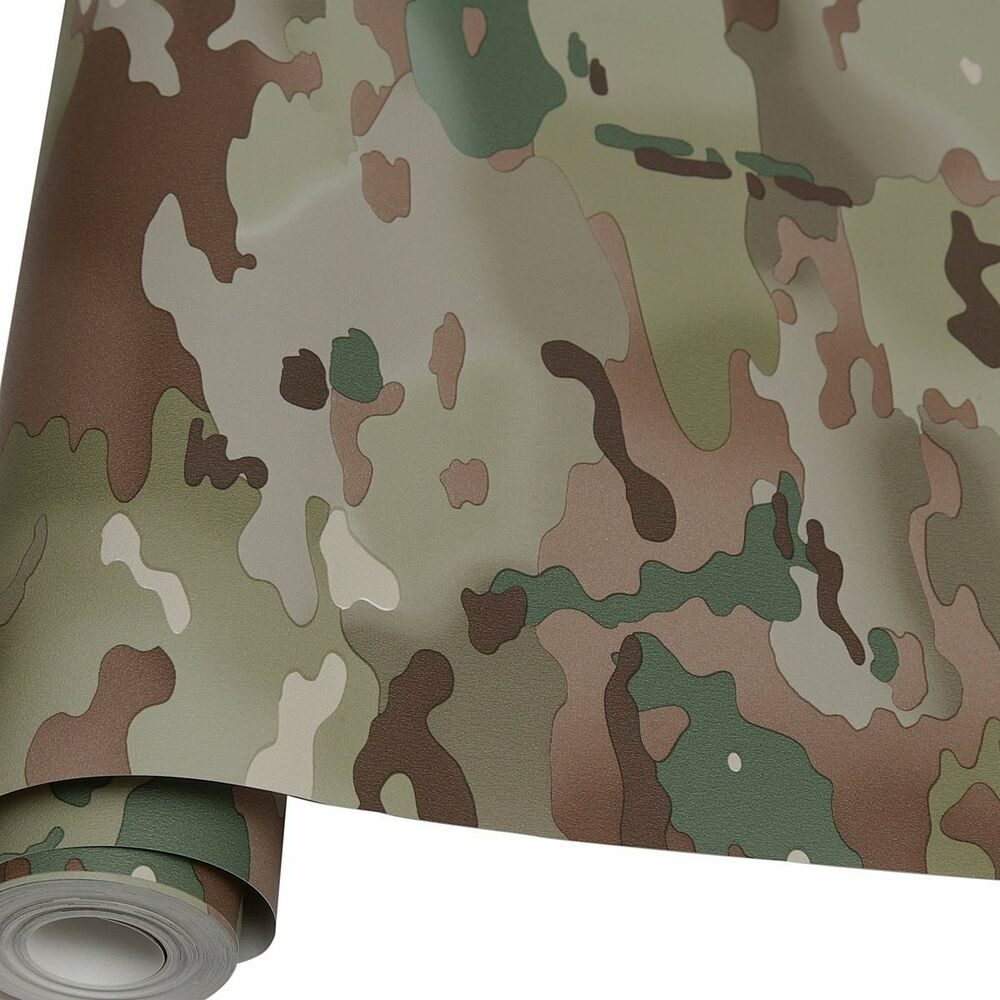 10m roll of army mtp camouflage wallpaper multi terrain for Camouflage bedroom ideas for kids