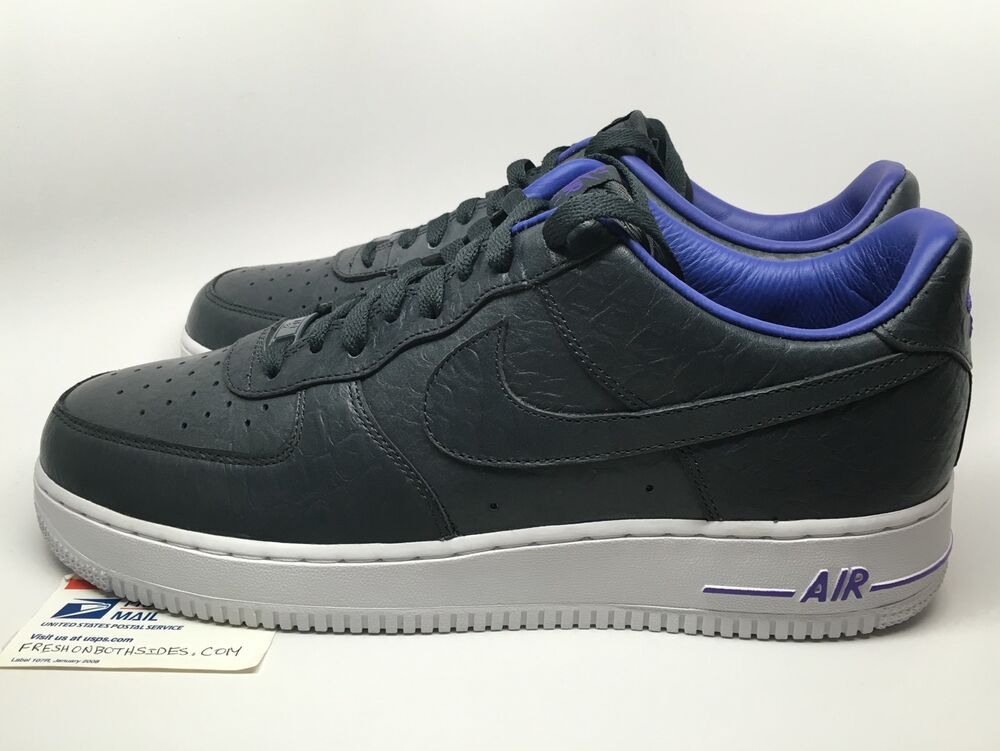 nike air force 1 one low kobe anthracite lakers jordan max supreme sz 11 new ebay. Black Bedroom Furniture Sets. Home Design Ideas