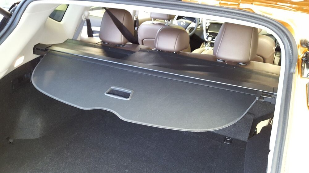 new oem 2015 2017 nissan murano black retractable cargo cover tonneau cover ebay. Black Bedroom Furniture Sets. Home Design Ideas