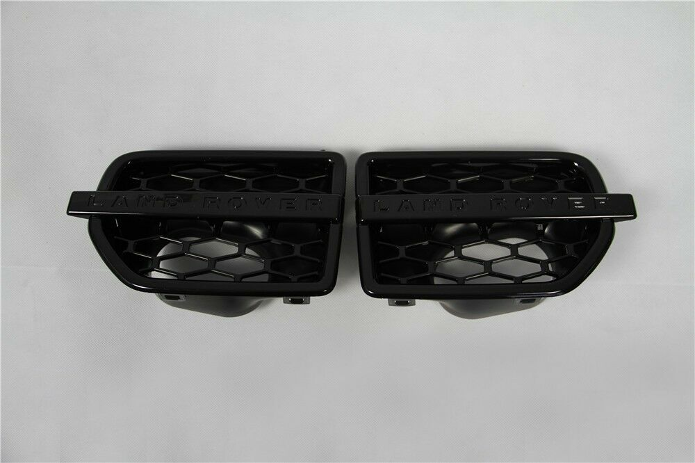 Piano Black Side Vent Grille Mesh Grill Fit Land Rover