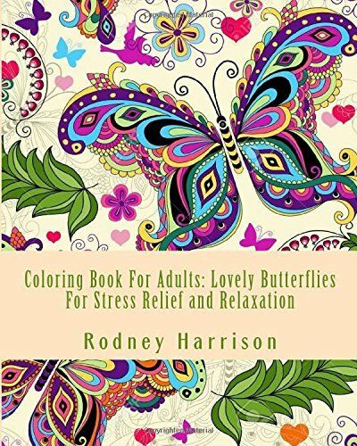 Relaxing adult coloring book animal butterfly creative fun Coloring books for adults on amazon