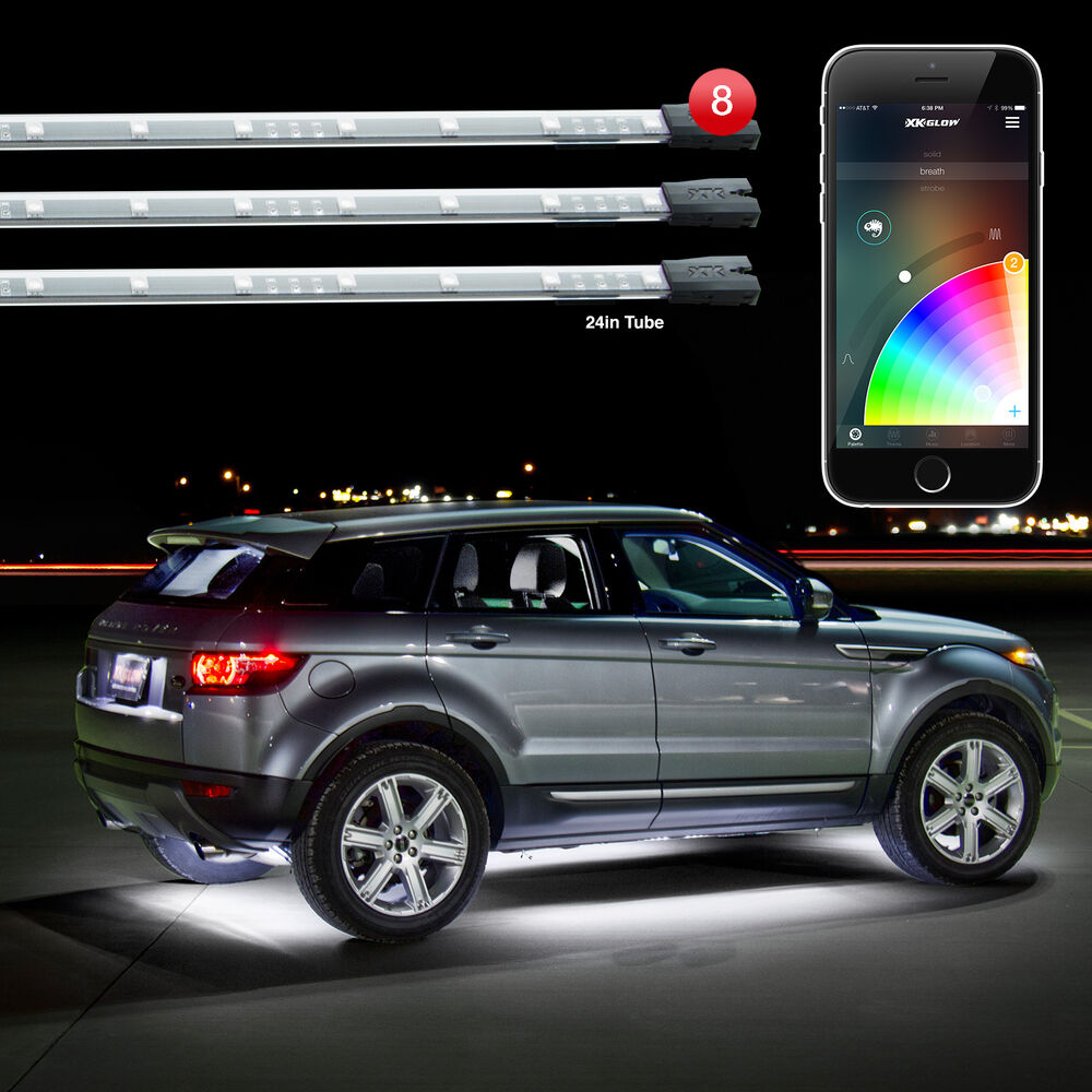 xkglow xkchrome bluetooth app car truck underglow led accent light kit ebay. Black Bedroom Furniture Sets. Home Design Ideas