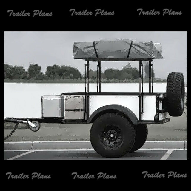 4 x 6 off road tent trailer plans instructions for Small trailer plans free