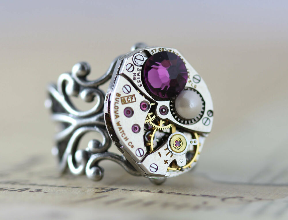 mothers ring mothers jewelry steampunk 1 2 3 birthstone. Black Bedroom Furniture Sets. Home Design Ideas